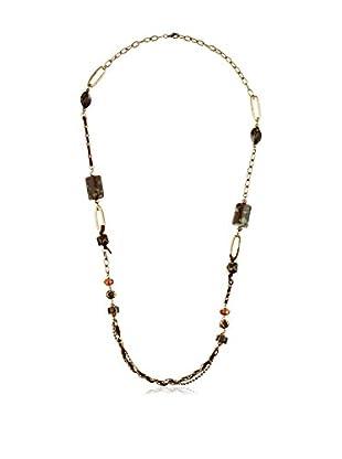 Mélancolie Halskette Marine schwarz/goldfarben
