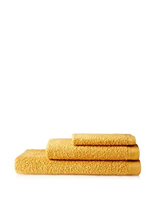AMR Set of 3 Bath Towels, Mustard