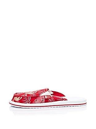 Wax Zapatillas Summer Destalonado (Rojo / Blanco)