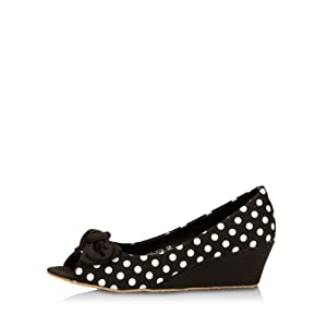 Wedges With Polka Dots