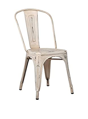 Lo+deModa Silla Terek Vintage Metal Color Edition Blanco