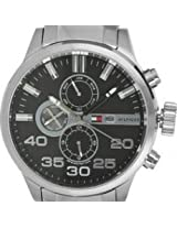 Tommy Hilfiger Black TH1791100 Round Dial Analog Watch - For Men
