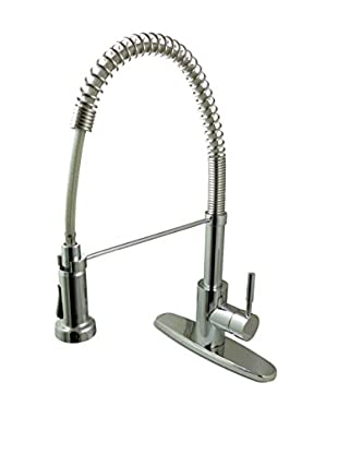 Kingston Brass Kitchen Faucet With Pull-Down Sprayer, Polished Chrome