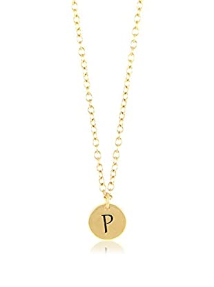 Ettika 18K Gold-Plated P Initial Charm Necklace