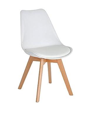 LO+DEMODA Stuhl 2er Set Beech Tulipa weiß