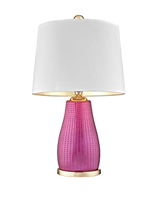 Artistic Lighting Brigitte Table Lamp, Cerise Pink/Gold