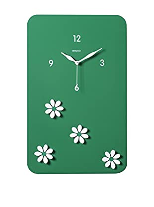 Diamantini & Domeniconi Reloj De Pared Fiori Verde