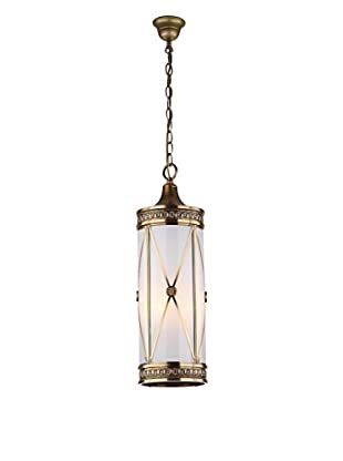 Safavieh Darby Small 3-Light Pendant, White/Brass