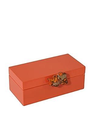 Mapleton Drive Medium Orange Lacquer Box with Orange Jasper Knob