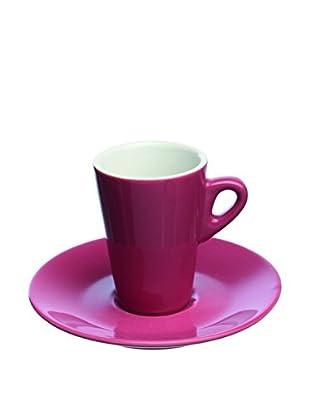 Tognana  Kaffeetasse mit Untertasse 6er Set Elegant veilchenrosa