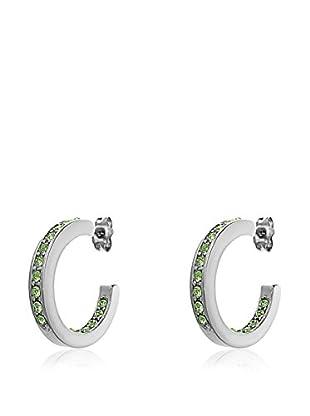 Passion Obscure Ohrringe Midi Hoop Earrings silberfarben/hellgrün