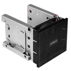 LIANLI フロントべゼル付き内蔵用HDDラックマウントキット ブラック 5インチベイ3段3.5インチHDD4台&2.5インチHDD2台 EX-36B1: パソコン・周辺機器