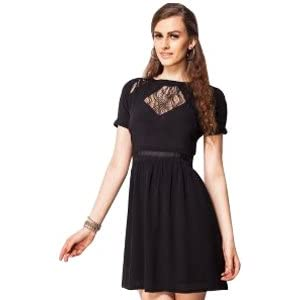Diamond Lace Insert Dress