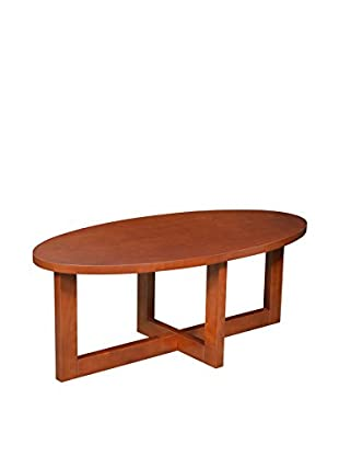 Regency Oval Veneer Coffee Table, Cherry