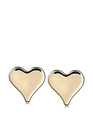 Ecru Metal Tiny Heart Post Earrings