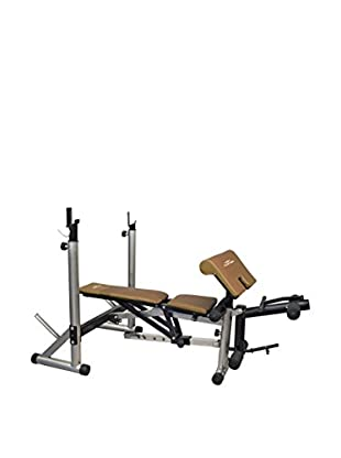 HIGH MUSTER Panca Fitness Bench 950 Grigio/Marrone