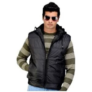 Delhi Seven Hooded Men's Jacket - Black