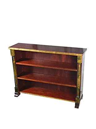 Empire-Style Bookcase, Brown/Tan/Green