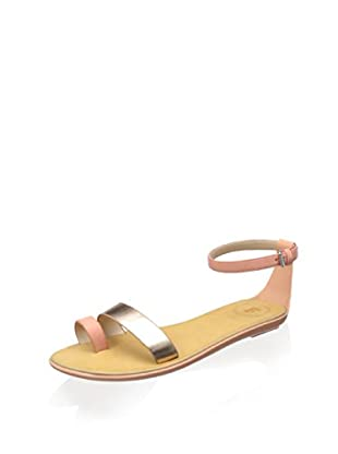 French Connection Women's Terri Sandal (Blush/Rose Gold)
