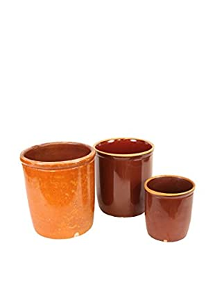 Set of 3 Danish Stoneware, Brown