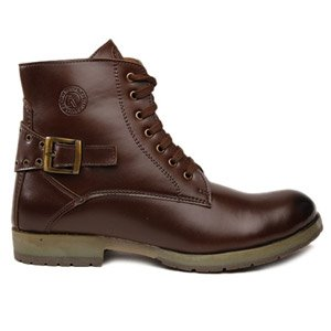 Bacca bucci Premium Texas High Ankle Boots - SBRB4200 (Brown)