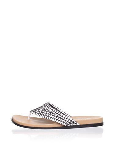 Lisa by Donald J Pliner Women's Gemina Flat Sandal (White)