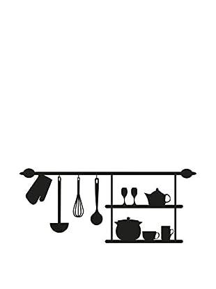 Ambiance Live Wandtattoo Kitchenware dunkelgrau