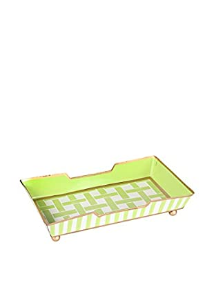 Jayes Basketweave Guest Towel Tray, Green
