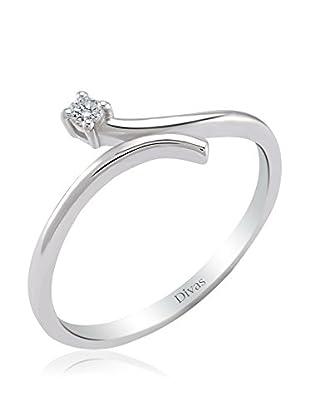 Divas Diamond Anillo 0,05 ct Diamond Solitaire Design (Plata)