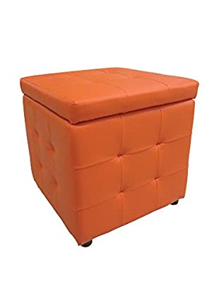 Evergreen Home Hocker mit Stauraum orange
