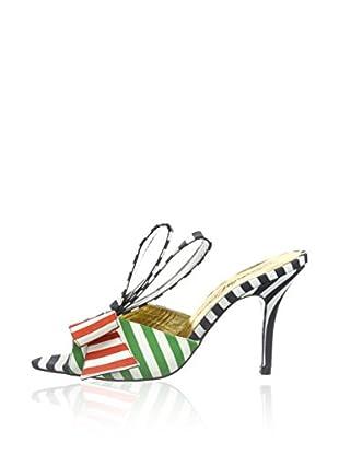 Beverly Feldman Zapatos Slip-On Bonita (Verde / Naranja)