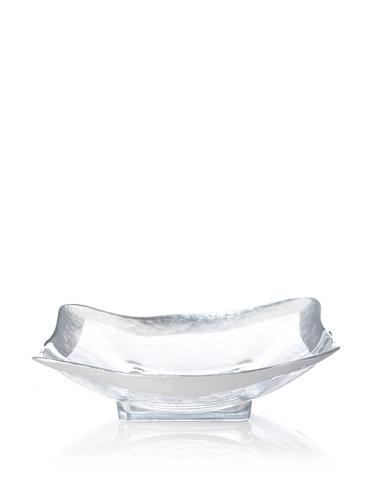 Badash Crystal Square Leaf Bowl (Silver)