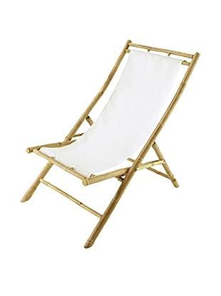 ZEW, Inc. Bamboo Relaxing Chair, White