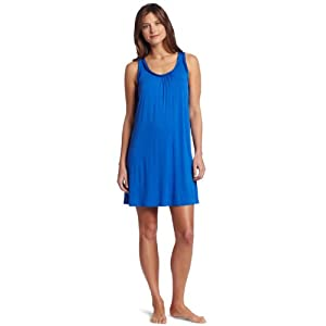 Midnight by Carole Hochman Women's Satin Chemise, Lapis Blue, Medium