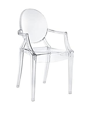 Modway Casper Dining Arm Chair, Clear