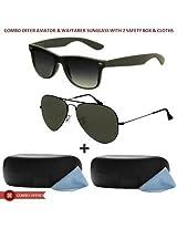 Aviator & Wayfarer Sunglasses With Box