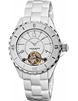 Akribos Automatic White Ceramic Ladies Watch Ak524Wt