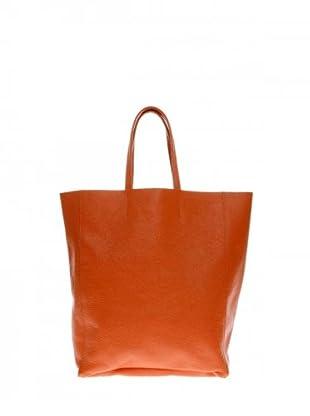 Elysa Ledertasche mit Schulterriemen (Orange)