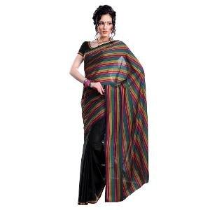 Ishin Cotton Saree - Multicoloured