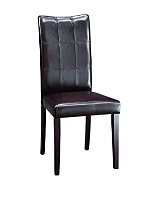 Baxton Studio Eveleen Dining Chair, Dark Brown