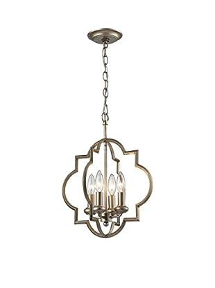 Artistic Lighting Pendant, Aged Silver