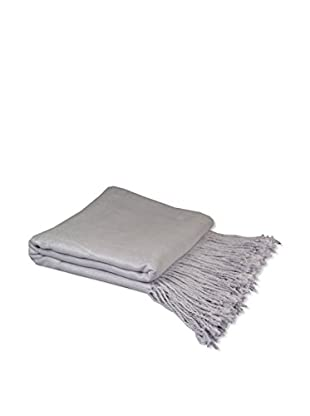 PÜR Cashmere Rayon From Bamboo Velvet Throw, Silver Lilac
