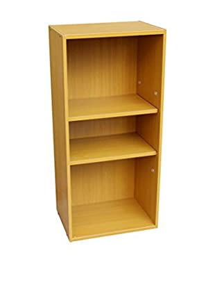 ORE International 3-Tier Adjustable Book Shelf, Brown