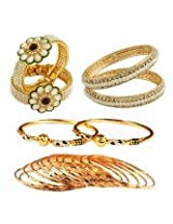 Gold Plated Bangles Combo-1754