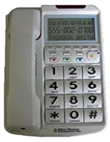 Northwestern Bell 88064202714 Big Button w/ Caller ID WHITE AD