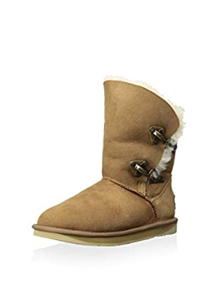 AUStralia Luxe Collective Womens Renegade Shearling Boot With Double Buckle Closure (Chestnut)