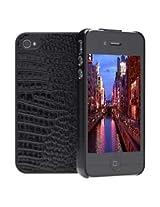 Cygnett CY0680CPSKI Black SKIN Textured Slim Case for Apple iPhone 4 & 4S (Black)
