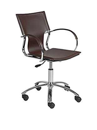 Euro Style Vinnie Office Chair, Brown
