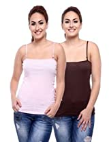 TeeMoods Pack of Two Women's Camisoles