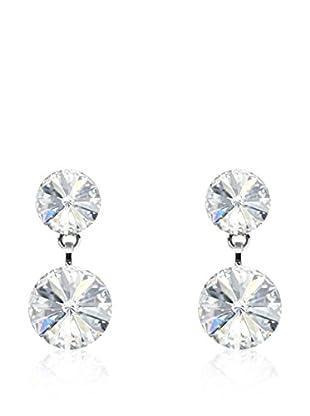 Absolute Crystals Pendientes 2 Rivoli Plateado